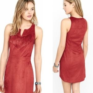 🍁 FALL SALE! | EXPRESS RUSTIC RED FRINGE DRESS